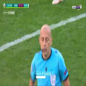 Ball is replaced in Croatia-Spain