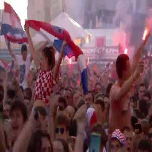 Croatian fans react to Pasalic goal