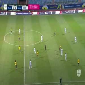 Lionel Messi chance hits the post 22' [2021 Copa America]