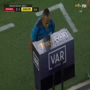 Steve Loic Solvet (Guadeloupe) direct red card 54'