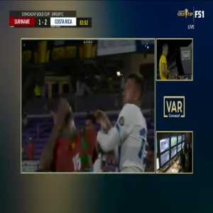 Francisco Calvo (Costa Rica) direct red card 85'