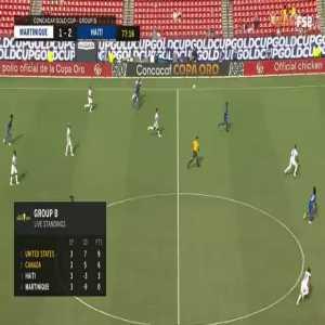 Burner red card vs Haiti 78'
