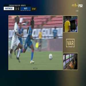 VAR: Cretinoir red card vs Haiti 59'