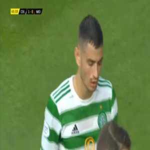 Nir Bitton (Celtic) second yellow card against Midtjylland 44'