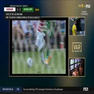 VAR: Irep red card vs Suriname 29'