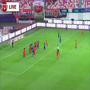 Cangzhou 0-(1) Shandong Taishan - Marouane Fellaini goal