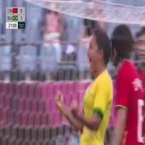 China 0-[2] Brazil – Debinha 21' (Women's Olympic Football Tournament)