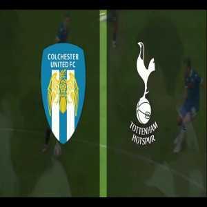 Colchester 0 - [1] Tottenham | Heung-min Son 11'