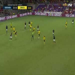 Costa Rica [1]-0 Jamaica: Bryan Ruiz 53'
