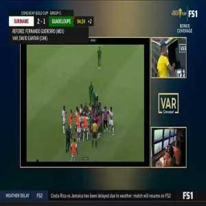 VAR: Solvet red card vs Suriname 90+5'
