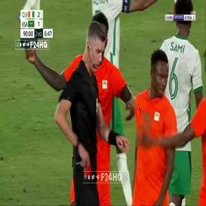 Côte d'Ivoire vs. Saudi Arabia | Aboubacar Doumbia Red Card [Tokyo Olympics]