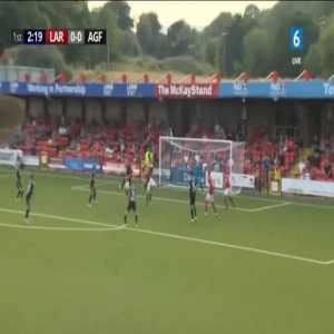 Larne 1-0 Aarhus - David McDaid 3'