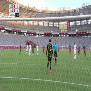 Mexico U23 2 - [1] France U23 - Gignac 69' penalty + foul [Tokyo Olympics]