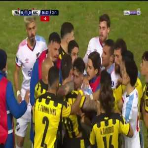 Brawl beginning in 90'+6' minute of Peñarol vs. Nacional (Uruguayan Superclásico) - Felipe Carballo, Maximiliano Cantera (Nacional) & Damian Musto (Peñarol) red cards