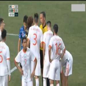 Johan Vasquez (Mexico) straight red card against Japan 68'