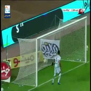Long distance free kick- Sepahan 1-0 Zob Ahan- Omid Noorafkan (Iran PGL)