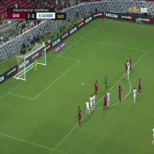 Qatar 3-0 El Salvador: Almoez Ali penalty 55'