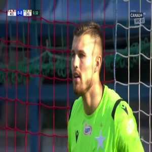 Filip Starzyński (Zagłębie Lubin) penalty miss vs. Wisła Kraków (6', Polish Ekstraklasa)