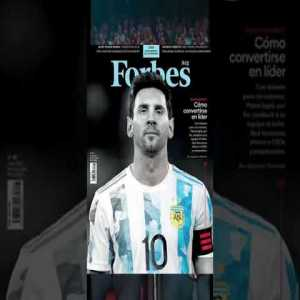 Messi appears on the cover of Forbes Argentina
