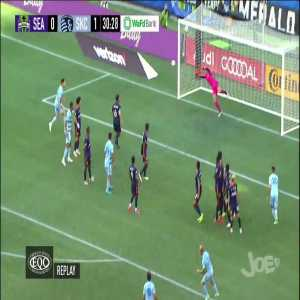 Seattle Sounders 0 - [1] Kansas City | Johnny Russell free kick 31' [MLS]