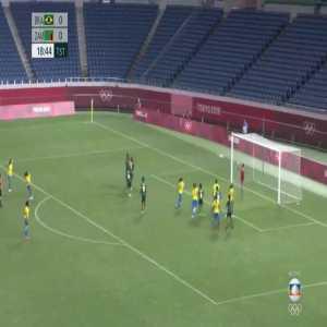 Brazil [1]-0 Zambia – Andressa Alves free-kick 19' (Women's Olympic Football Tournament)
