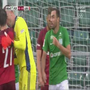Sergei Zenjov (Flora) disallowed goal vs. Legia Warszawa (66')