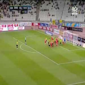 AEK 1-0 Velez Mostar [2-2 on agg.] - Petros Mantalos 90'+8'