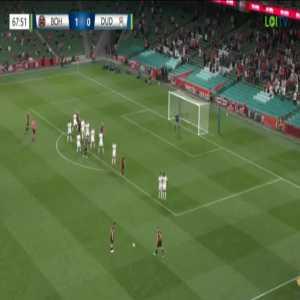 Bohemians 2-0 Dudelange [3-0 on agg.] - Georgie Kelly 69'