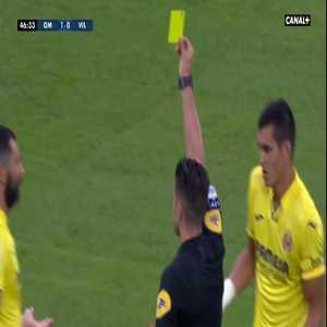 Olympique de Marseille 1-0 Villarreal - Juan Foyth 2nd yellow card 47'