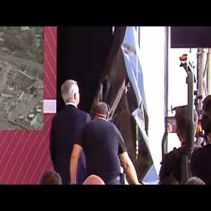 Jose Mourinho Tears Down Window Panel During First Roma Presser