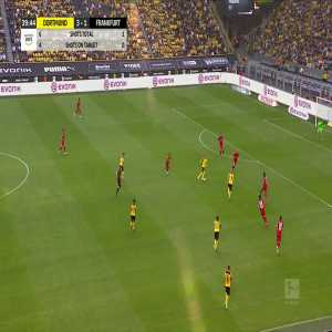 Marco Reus disallowed goal vs Eintracht Frankfurt (great blunder) 40'