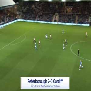Peterborough 2-0 Cardiff - Siriki Dembele 51'