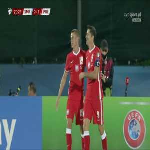 San Marino 0-3 Poland - Robert Lewandowski 21'