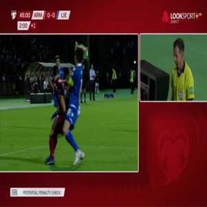 Armenia 1-0 Liechtenstein - Henrikh Mkhitaryan penalty 45'+5' (+ call)