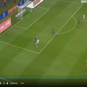Insane ball control skill by Robert Lewandowski vs England