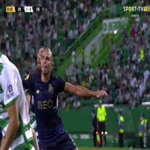 Pepe punching Coates