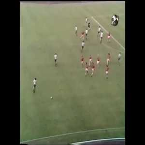 This is how the Netherlands (and a few other) teams used to press in the 70s before the offside rule changed. Video from the 1974 World Cup