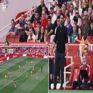 Arteta reaction to Pepe decision making