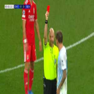 [BT Sport] English referee Anthony Taylor gives Dynamo Kyiv player Denys Garmash second yellow card despite the player not being booked before
