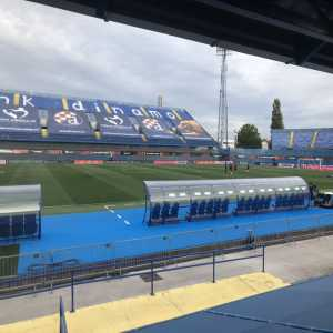 [Dan Kilpatrick] A stand at the Stadion Maksimir has been closed following an earthquake