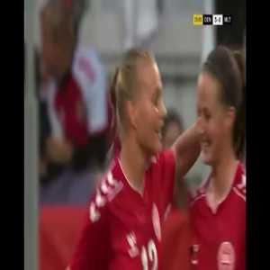 Denmark W [3] - 0 Malta W- Stine Larsen 26'