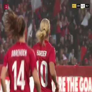 Denmark W [4] - 0 Malta W- Pernille Harder 46'