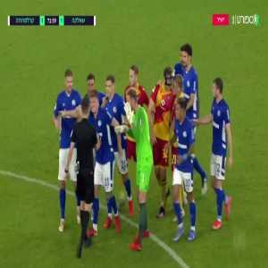 Victor Palsson (Schalke) straight red card against Karlsruhe 72'
