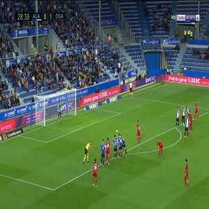 Alaves 0-2 Osasuna - Roberto Torres penalty 28'