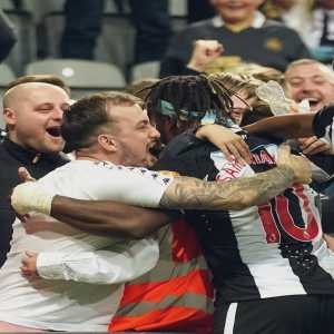 """[Allan Saint-Maximin] posts a picture of him celebrating his goal with the Newcastle fans. """"Sometimes people forget why they started to love football, I never will, thank you for the love lads"""""""