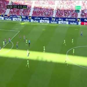 Atletico Madrid - Ahletic Club - Referee whistles full time when Carrasco is through on goal