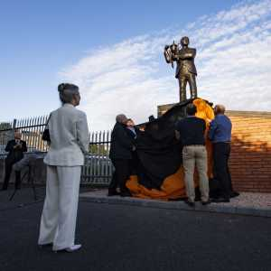 [Dundee United] unveil statue of former manager Jim McLean. He won a league title and two league cup in his time with the club, whilst also reaching the 1984 European Cup semi-final and 1987 UEFA Cup final. There will be a minute's applause for McLean before today's Dundee derby