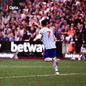 [OptaJoe] 66 - West Ham's London Stadium is the 66th different stadium that Cristiano Ronaldo has scored at in matches played in Europe's big five leagues, scoring at more unique venues than any other player since his Man Utd debut in 2003-04, ahead of Zlatan Ibrahimovic (64). Conqueror.