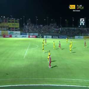 Burmese striker Kyaw Ko Ko with the double stepover and chipped finish for the game winner as Phrae United beat Ayutthaya Utd, 2-1 (Thailand League 2).