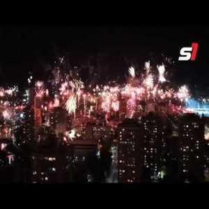 FK Zeljeznicar fans celebrate their club's anniversary.